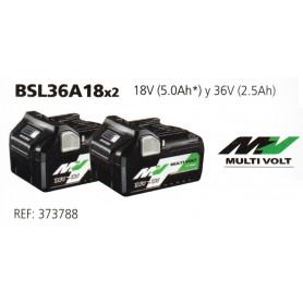 BATERÍA BSL36A18x2 18V 5A Y 36V 2.5A HIKOKI (HITACHI)