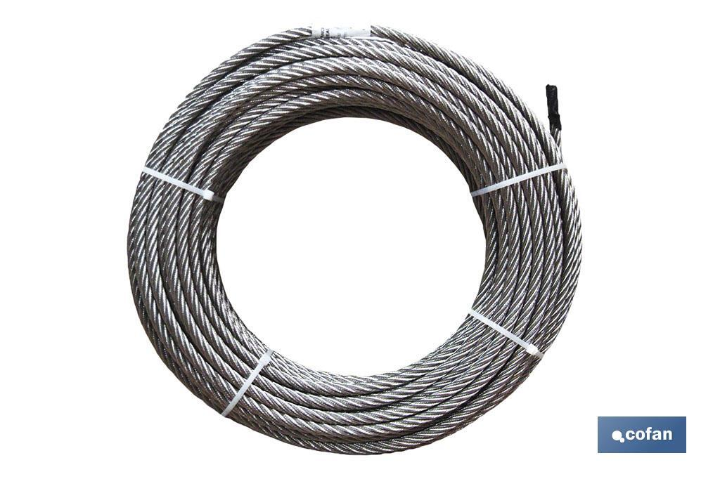 ROLLO CABLE GALVANIZADO 250 MTS. 6MM. (PACK: 1 UDS)