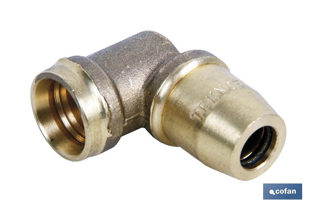"CODO CONECTOR 90º  ""R"" A5 TUBO 15X1,5 (PACK: 1 UDS)"