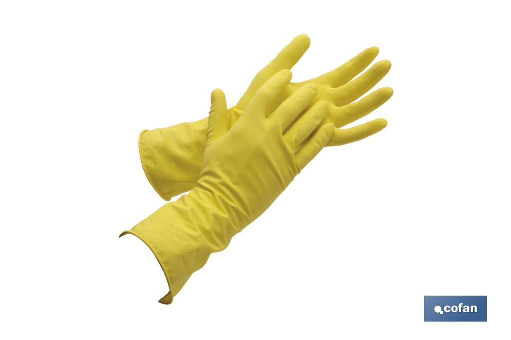 "GUANTE LATEX AMARILLO FLOCADO T 9  ""venta unitaria"" (PACK: 1 UDS)"