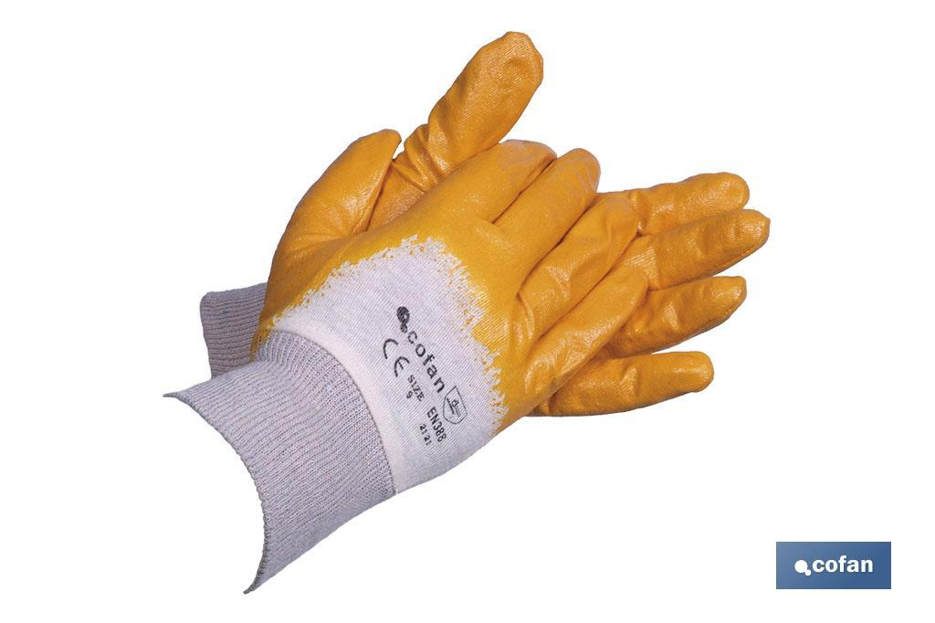 GUANTES NITRILO AMARILLO T-9 (PACK: 12 UDS)