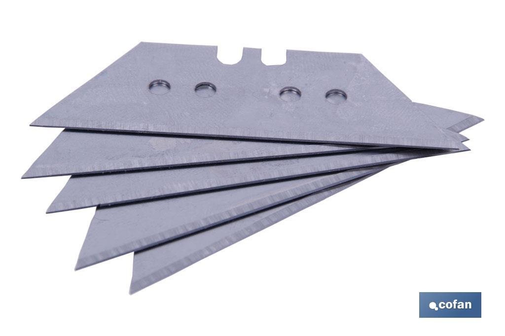 PACK 5 CUCHILLAS TRAPEZOIDALES 60MM (PACK: 1 UDS)