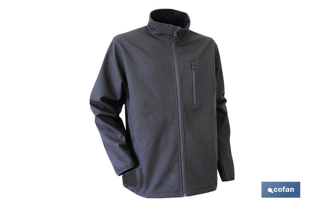 "CHAQUETA SOFT SHELL NEGRA ""LISTER"" 340g/m TALLA S (PACK: 1 UDS)"