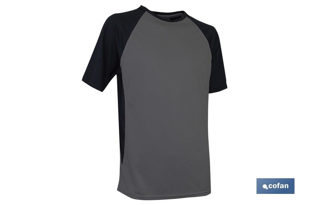 "CAMISETA TRANSPIRABLE ""PILOTE"" GRIS-NEGRA 160g/m2 T-S (PACK: 1 UDS)"