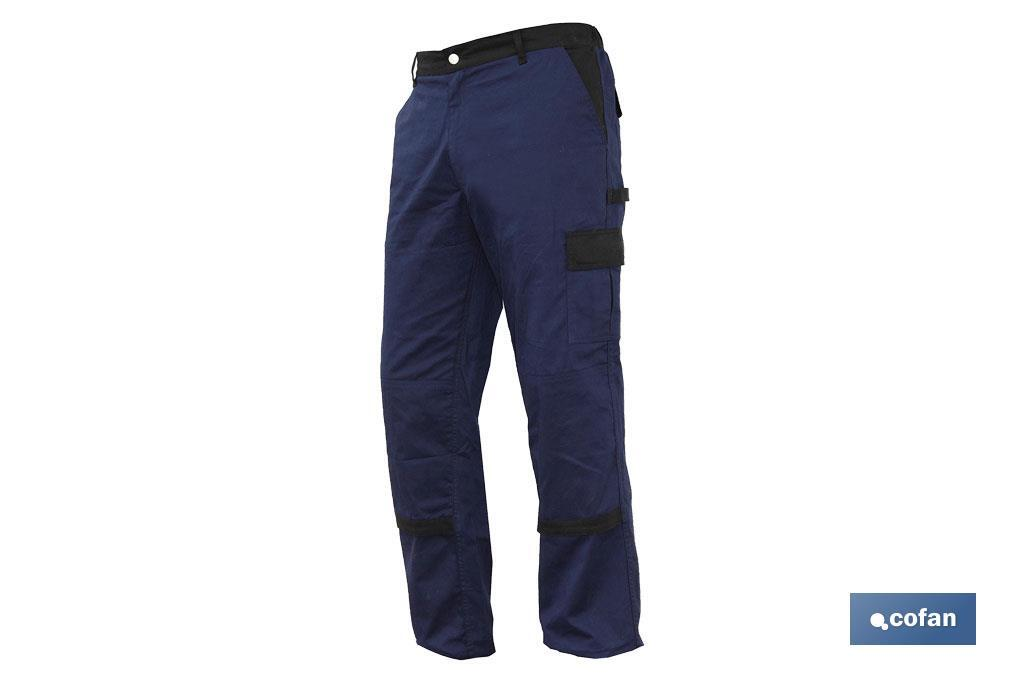 "PANTALON TRAB. FLEX. ""JANO"" REGULAR FIT MAR/NEGRO T-64 (PACK: 1 UDS)"