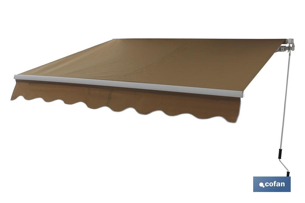 TOLDO MOD. NQ001 COLOR CRUDO 4x3,0 mts MANUAL (PACK: 1 UDS)