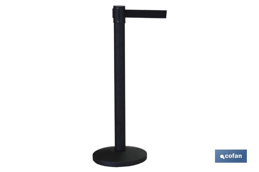 POSTE CINTA EXTENSIBLE NEGRA 2100 mm (PACK: 1 UDS)
