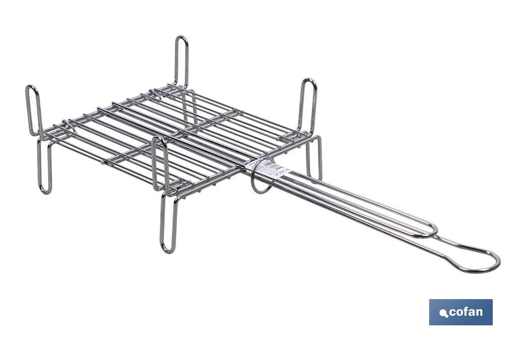 PARRILLA DOBLE CROMADA 500 X 500MM (PACK: 1 UDS)
