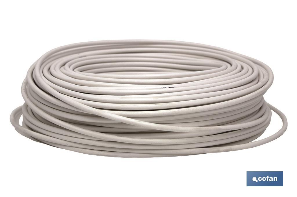 CABLE ANTENA 75 Ohm BLANCO (100 M) (PACK: 1 UDS)