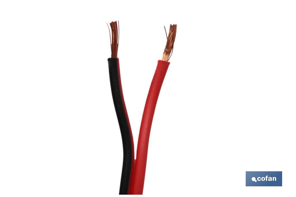 ROLLO 100M CABLE PARALELO ROJO/NEGRO (2X1,5) (PACK: 1 UDS)