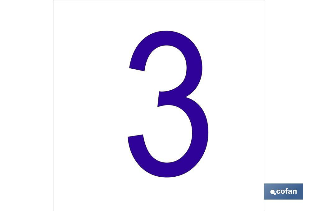 3 Número en glasspack