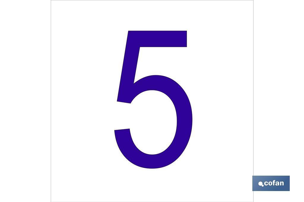 5 Número en glasspack
