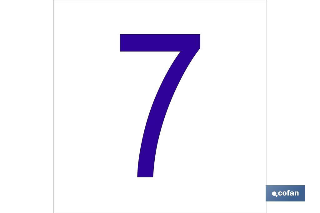 7 Número en glasspack