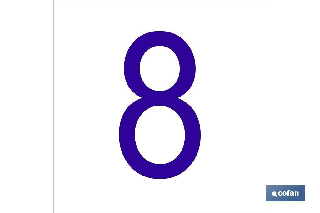 8 Número en glasspack