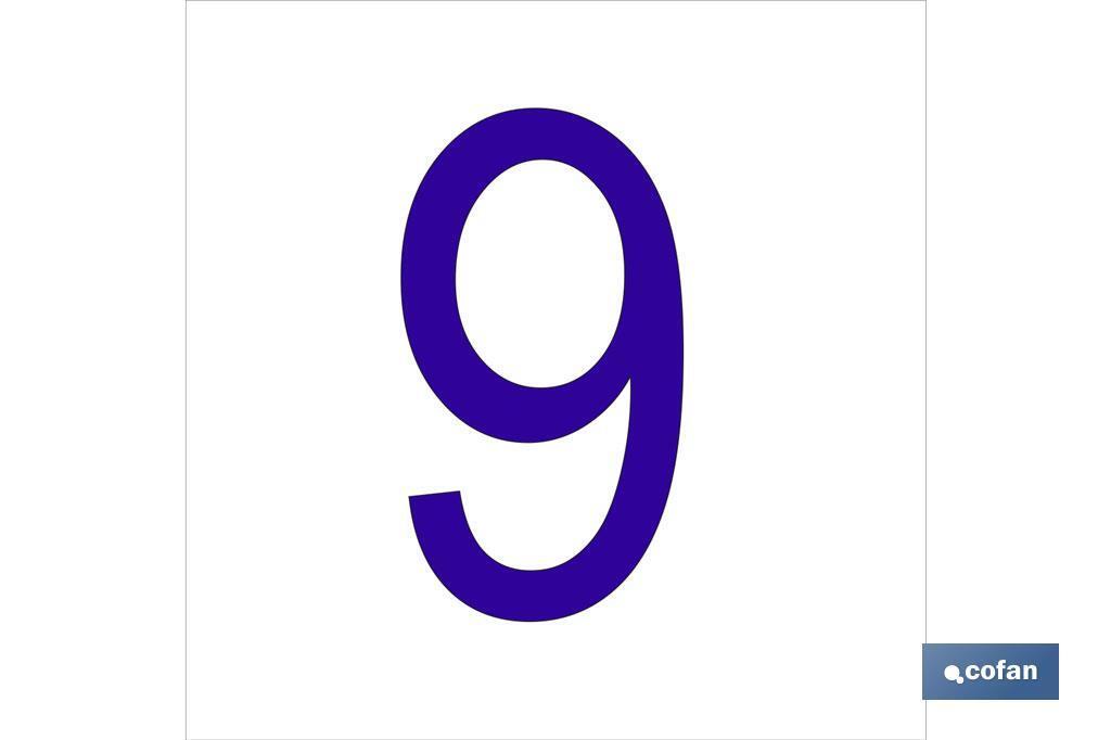 9 Número en glasspack