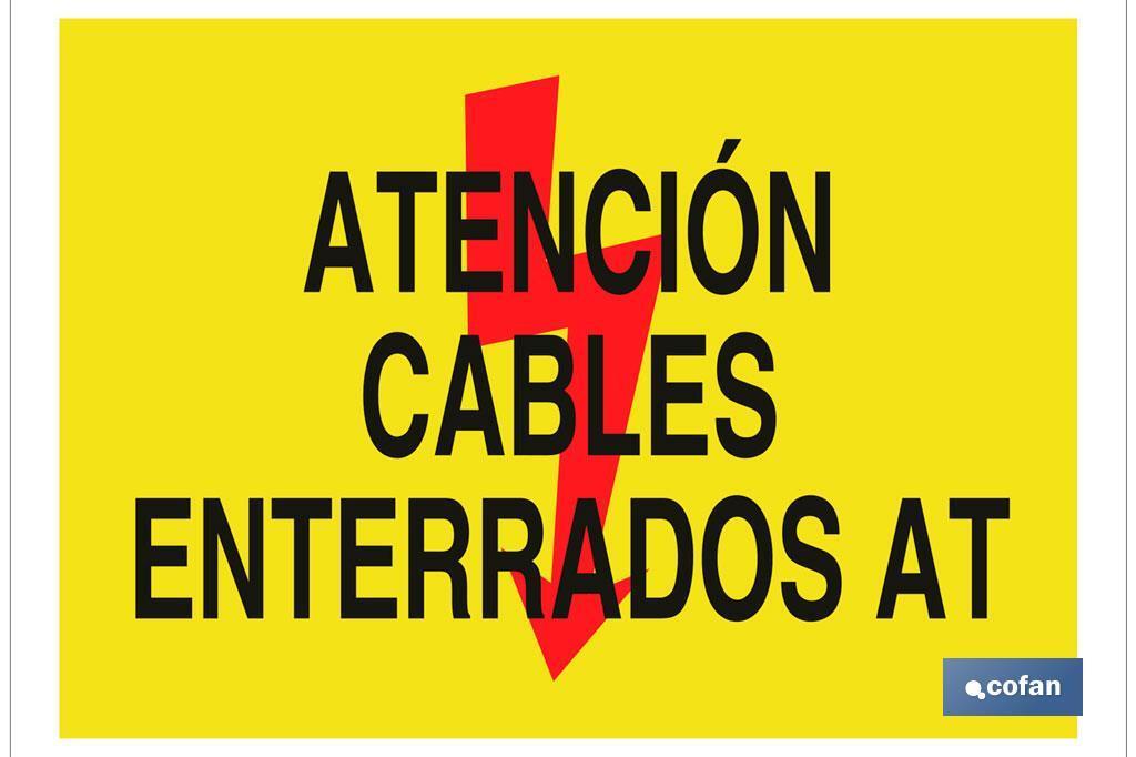 Atención cables enterrados AT