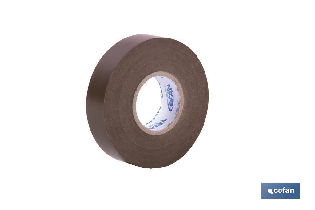 Cinta Aislante Marrón de PVC 20m x 19mm