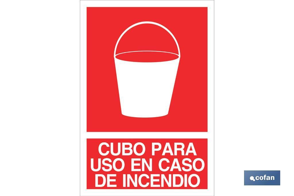 CUBO PARA USO EN CASO DE INCENDIO