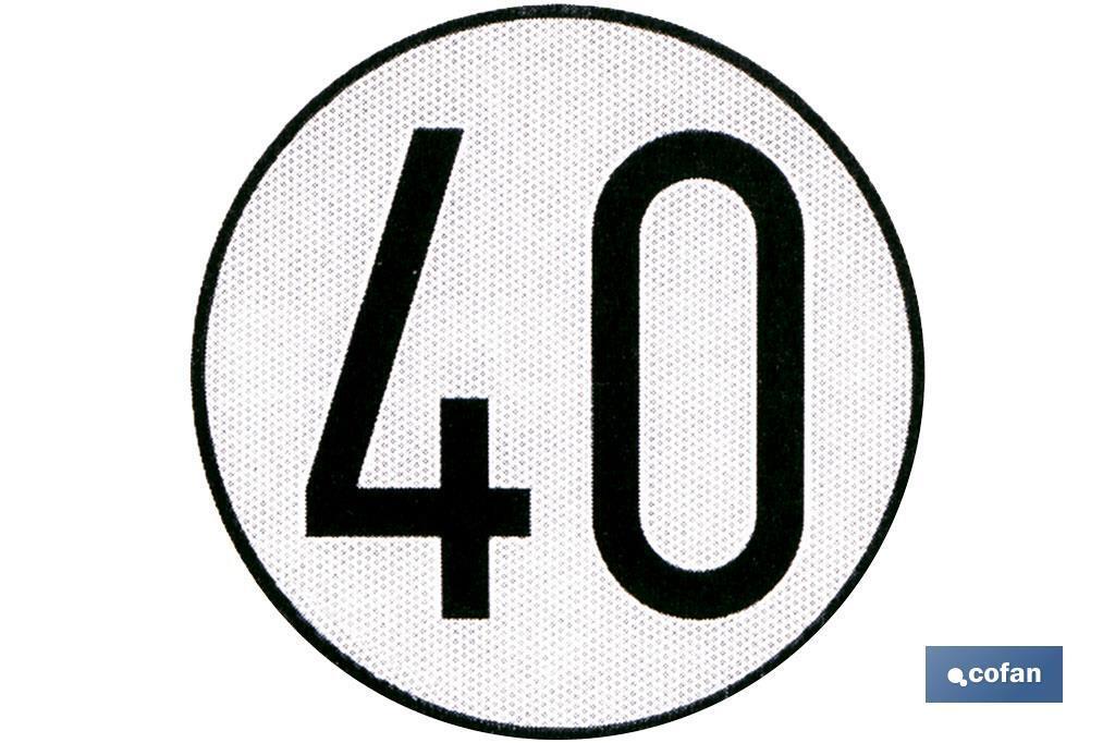 DISCO V-4 LIMITACIÓN VELOCIDAD (40 KM/H)