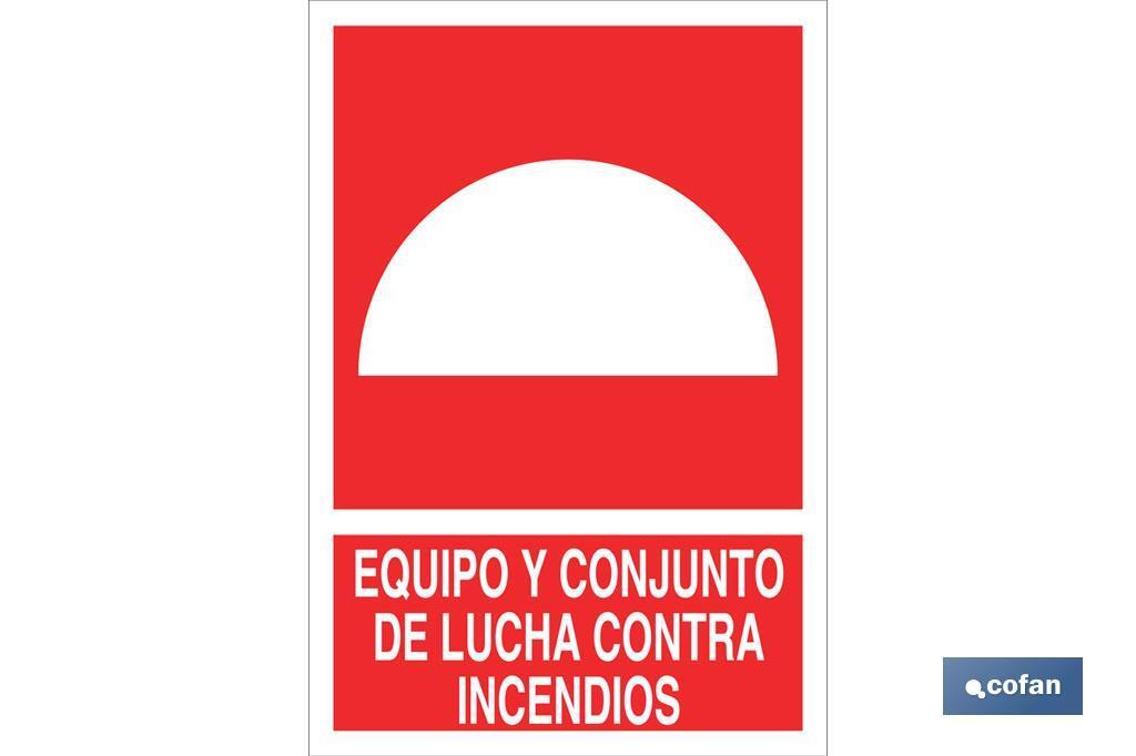 EQUIPO Y CONJUNTO DE LUCHA CONTRA INCENDIOS