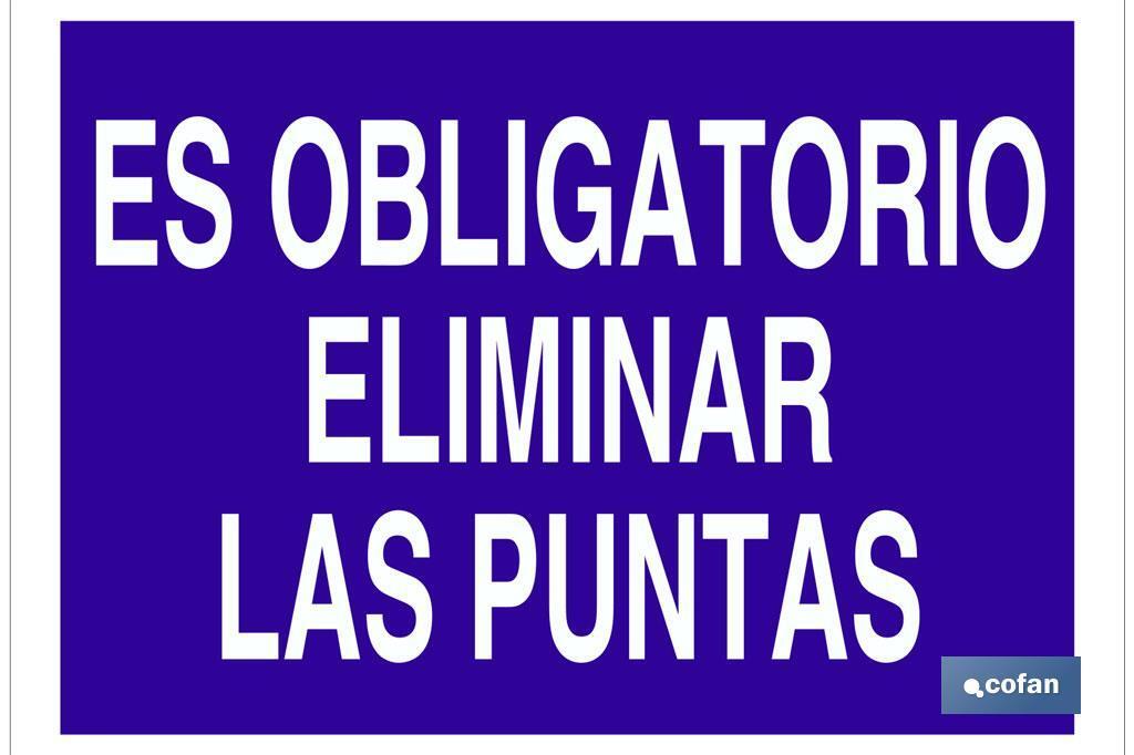 ES OBLIGATORIO ELIMINAR LAS PUNTAS