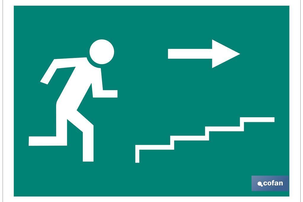Salida Escalera derecha Subida