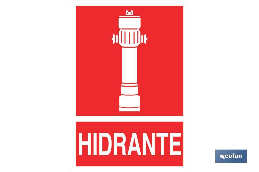 HIDRANTE PICTOGRAMA + TEXTO