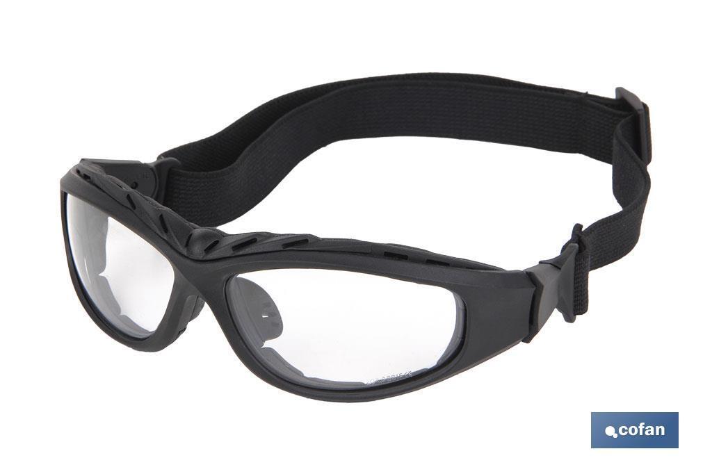 Gafas de Seguridad Acolchada 4 en 1