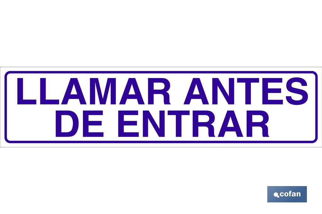 LLAMAR ANTES DE ENTRAR