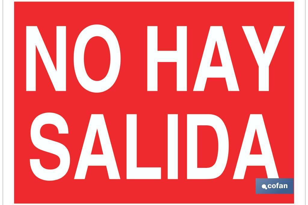 NO HAY SALIDA