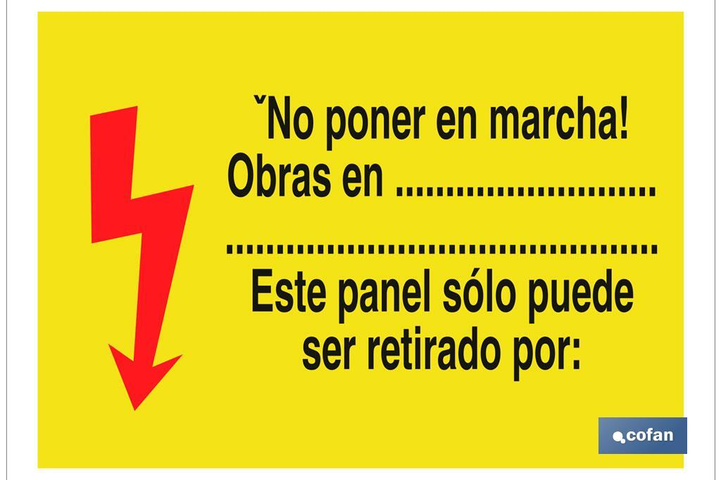 ¡NO PONER EN MARCHA! OBR...