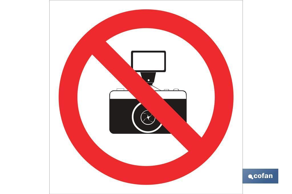 Prohibido hacer fotos