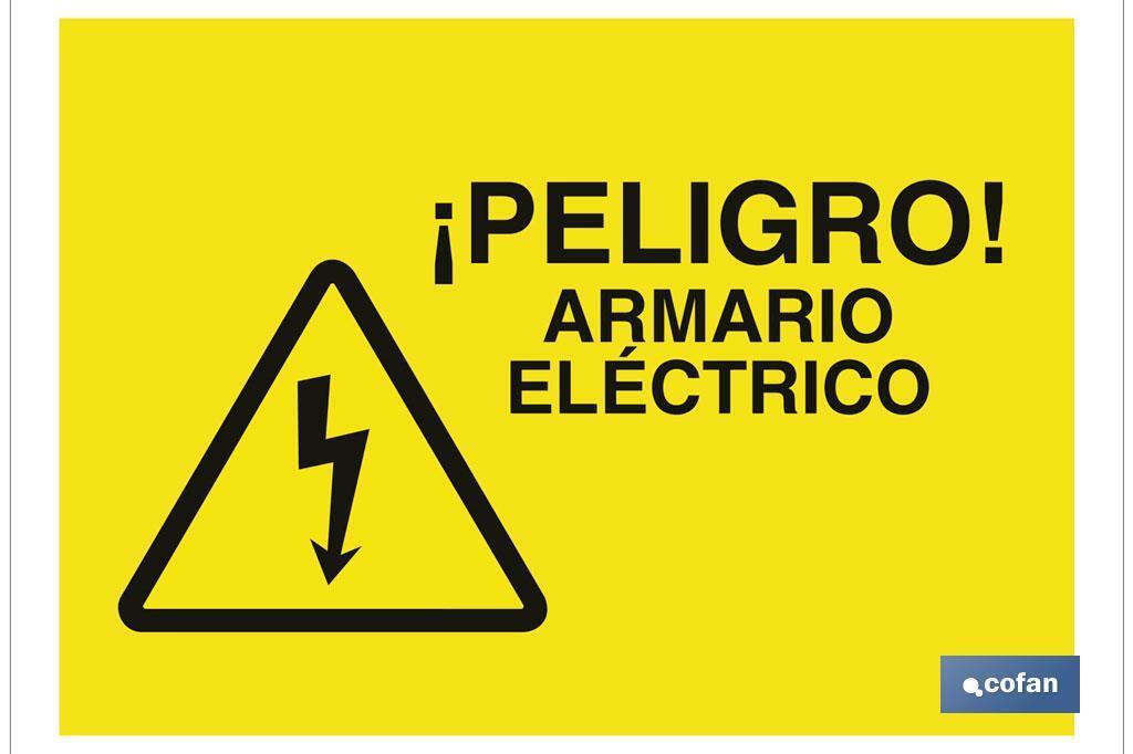 Peligro armario eléctrico