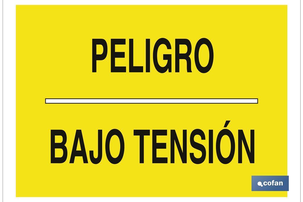 PELIGRO BAJO TENSIÓN