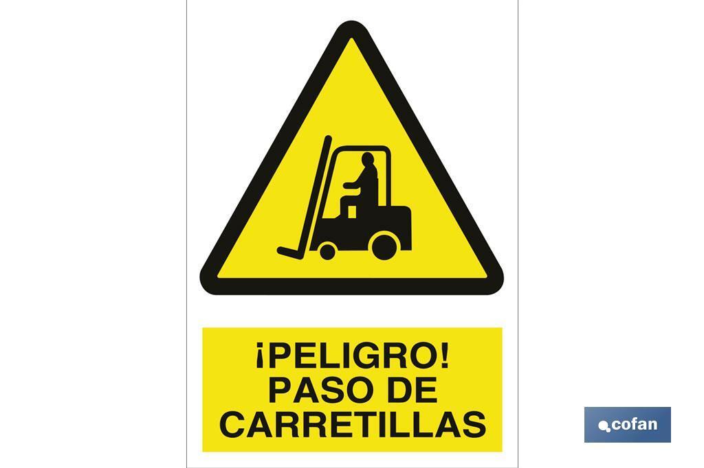 ¡PELIGRO! PASO DE CARRETILLAS