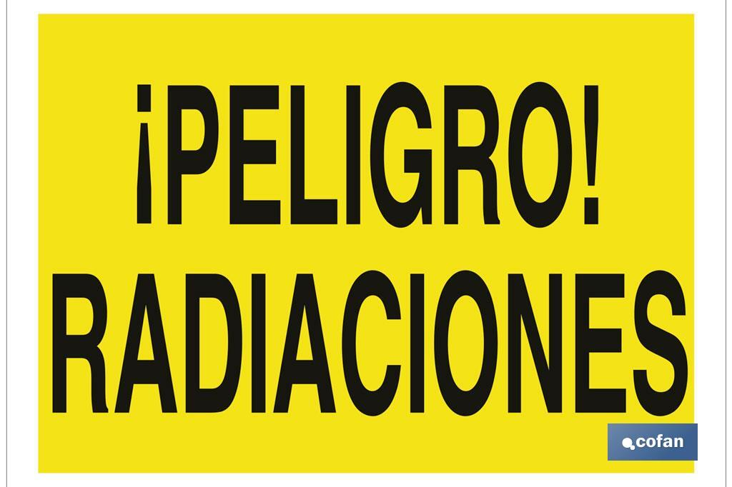 ¡Peligro! radiaciones