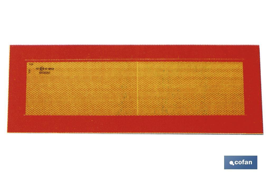 PLACA V-6 VEHÍCULOS LARGOS 565X200MM