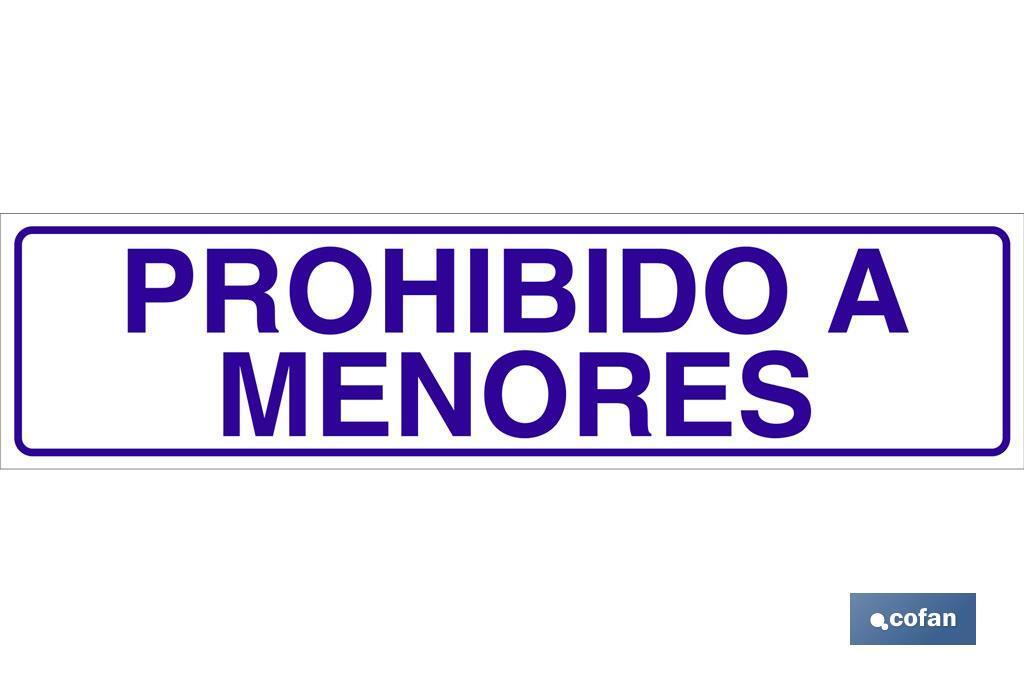 PROHIBIDO A MENORES