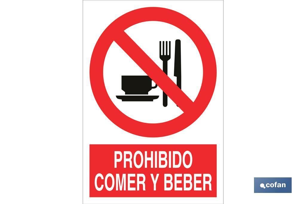 Prohibido comer y beber