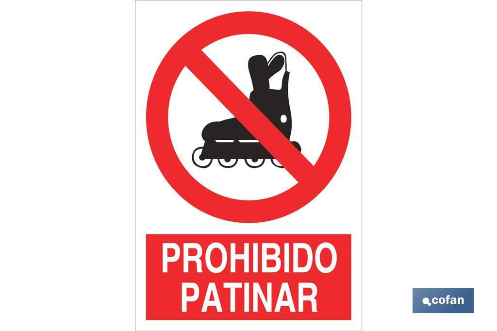 Prohibido patinar