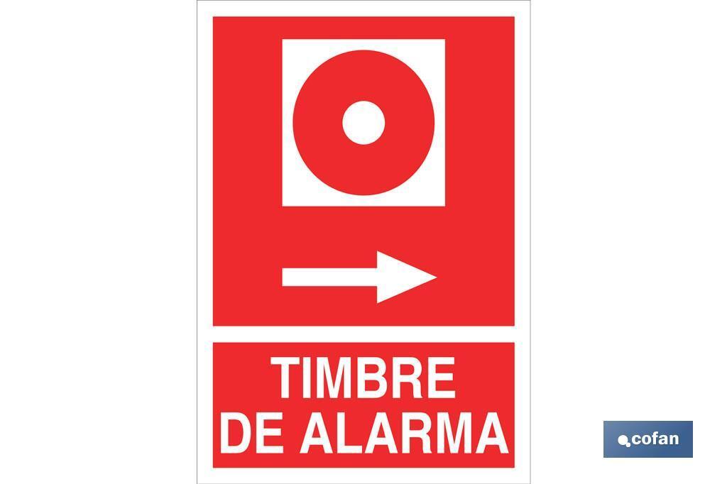TIMBRE DE ALARMA