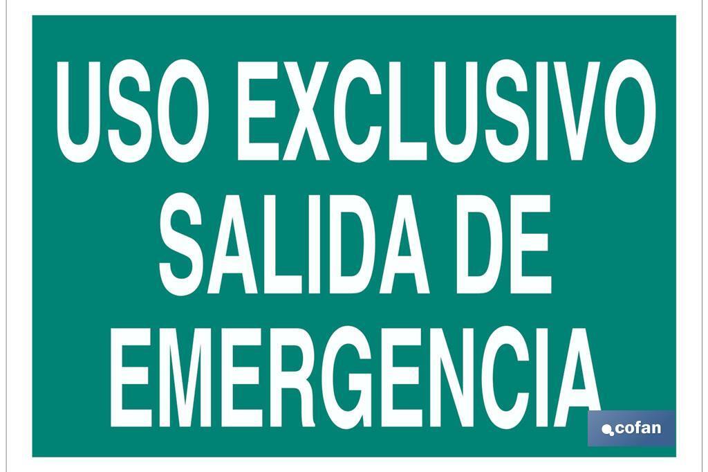 Uso Exclusivo Salida de Emergencia