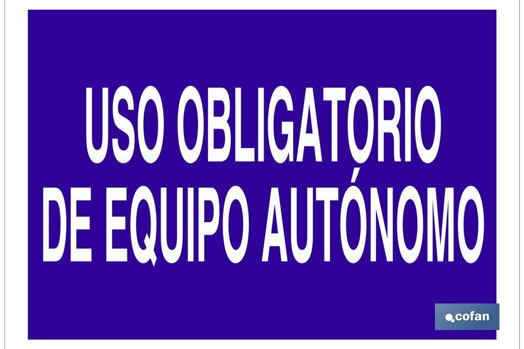 USO OBLIGATORIO DE EQUIPO AUTÓNOMO