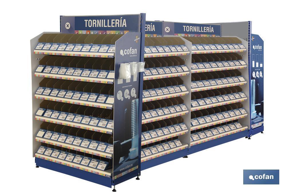 Expositor Tornillería Mod. 4 / 360 Gavetas