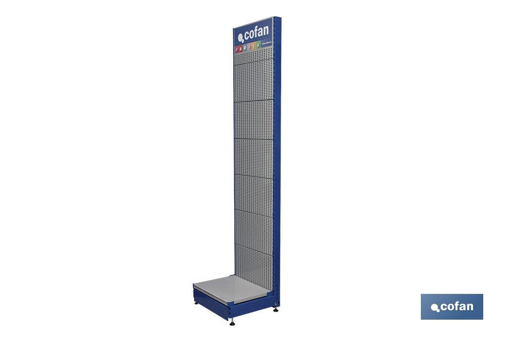 EXPOSITOR VERTICAL PERFORADO 2200X500MM