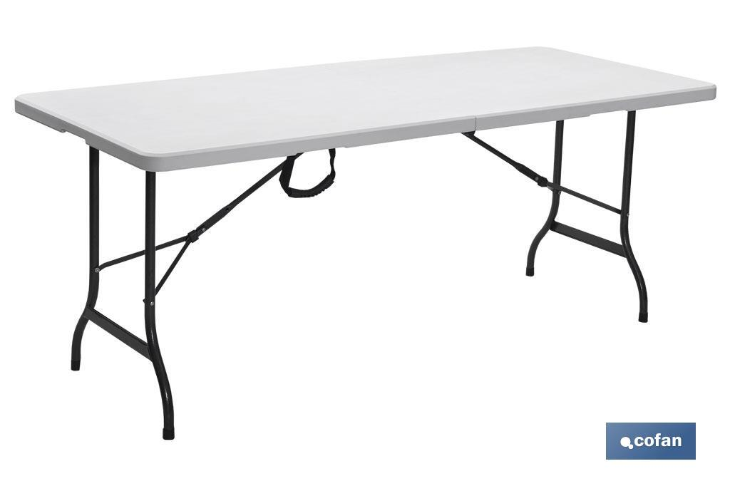 MESA PLEGABLE RECTANGULAR BLANCA