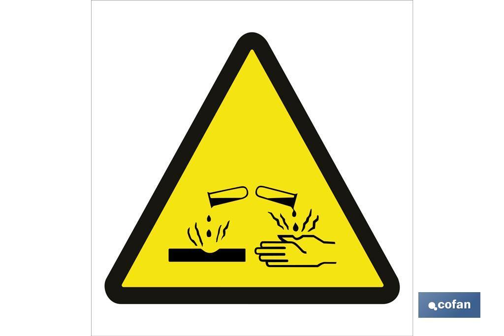 Peligro productos corrosivos