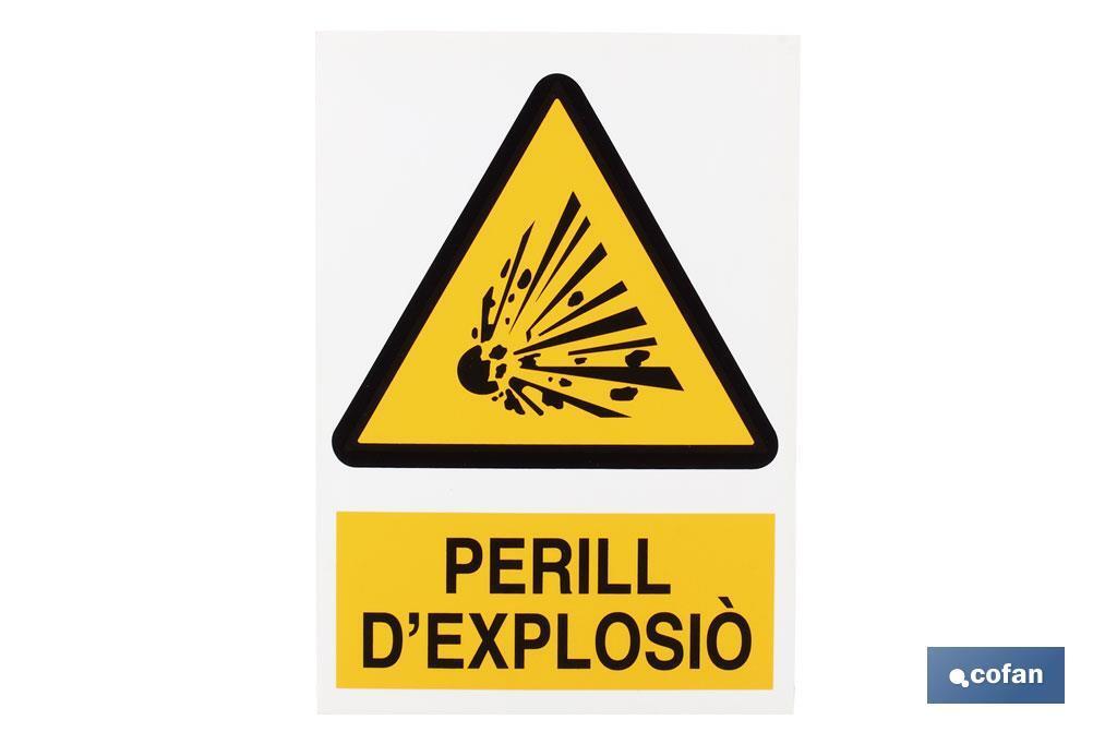 PERILL D'EXPLOSIÒ