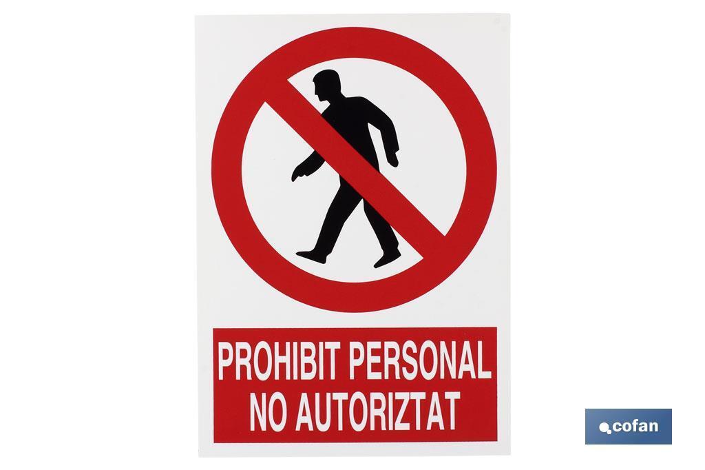 PROHIBIT PERSONAL NO AUTORITAT