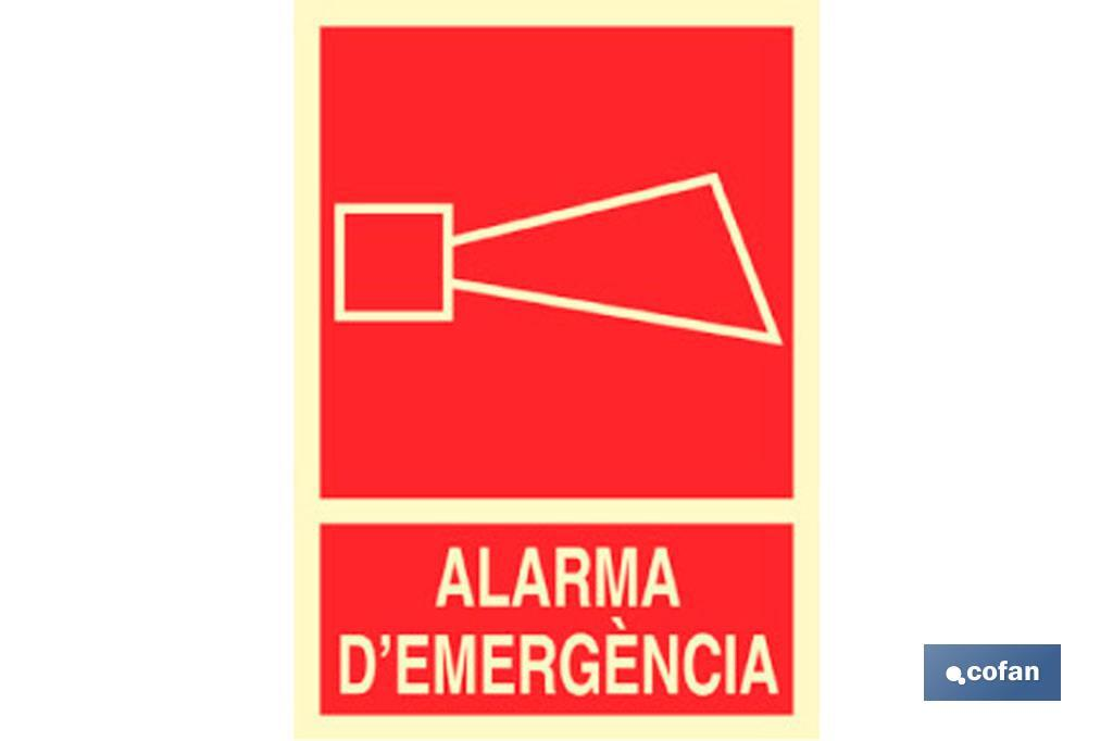 ALARMA D'EMERGENCIA